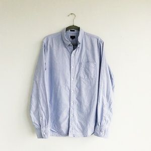 Light Blue J. Crew Factory Sun Washed Oxford